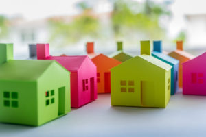 Collection of Colorful Origami Houses