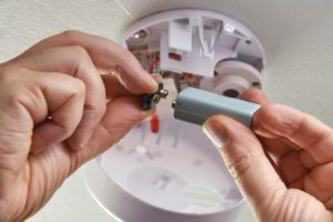 Replacing the Battery in a Smoke Detector