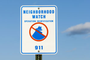 Houston Neighborhood Watch Sign