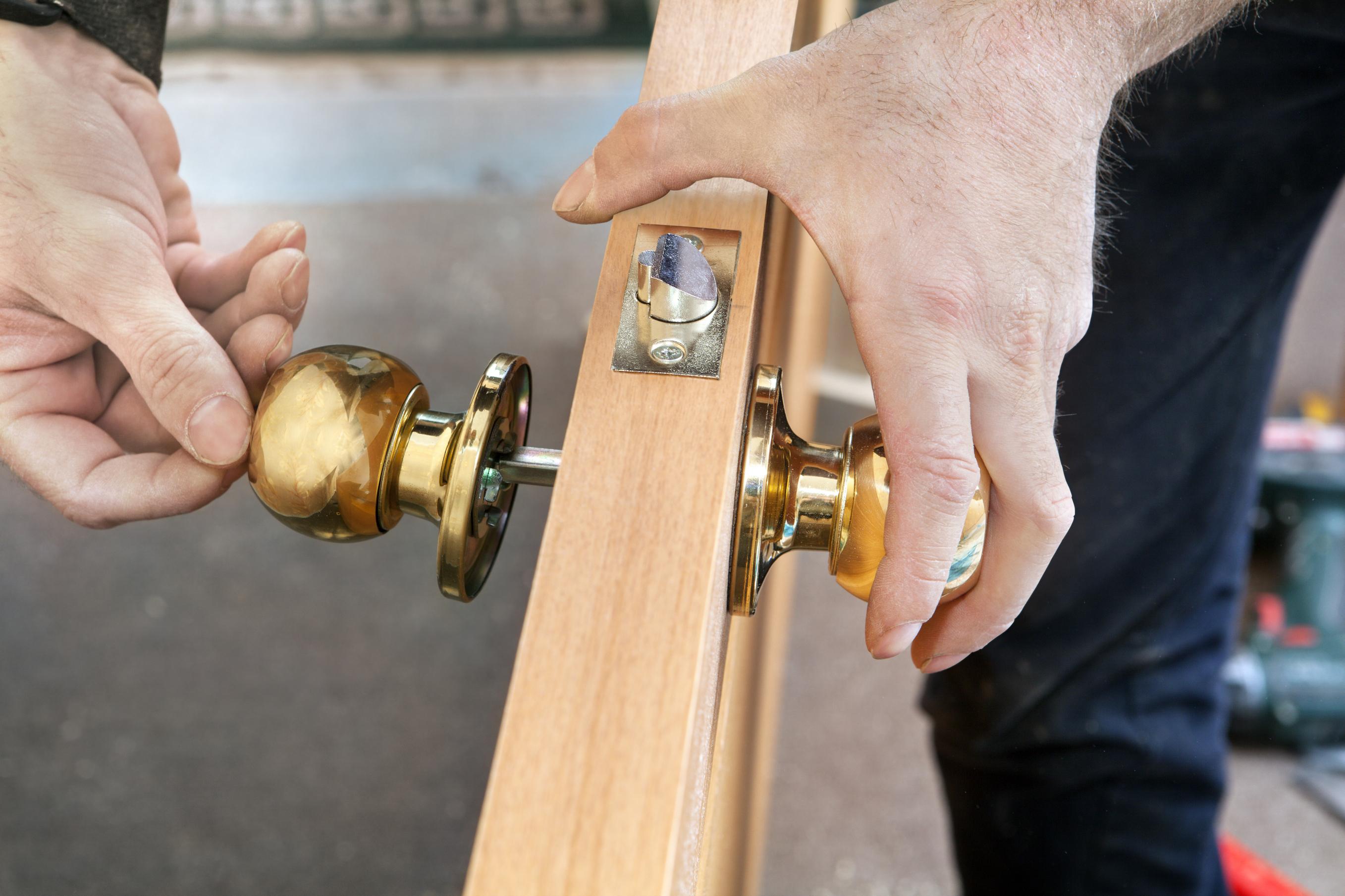 Installing New Locks on a Standard Interior Door