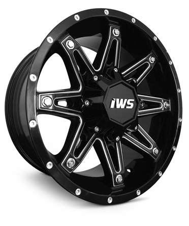 18x9 New Iws 5009 5x127 5x5 12 Gloss Black Machined Wheel Rim Brand