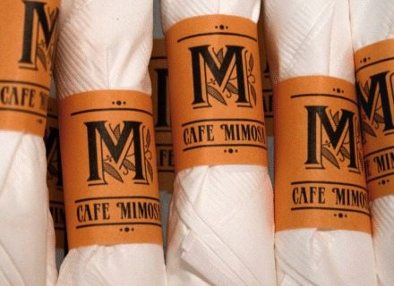 Cafe Mimosa Environmental Graphics Branding Specialty Graphics Branding Logo Identity Branded Materials