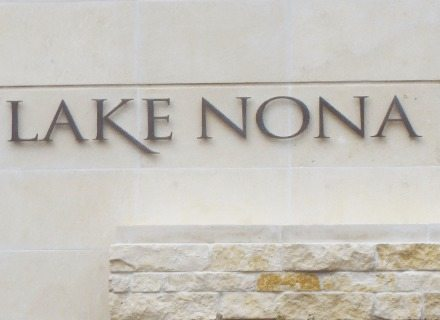 Lake Nona Environmental Graphics Wayfinding Golf Course and Country Club Identity Facility Entry Monument Signage