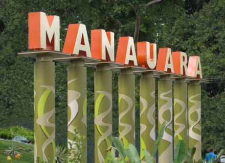 Manauara Shopping Center Mall Environmental Graphics Branding Logo Wayfinding Monument Identity Signage 3D Letters Feature