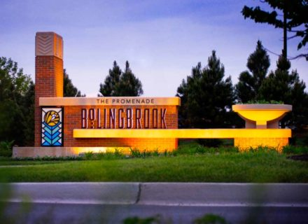 The Promenade Bolingbrook Shopping Center Environmental Graphics Exterior Identity Monument Specialty Graphics Signage