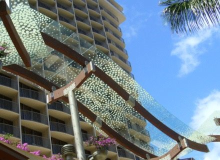 Waikiki Beach Walk Environmental Graphics Exterior Building Canopy Design Specialty Graphics