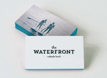 RSM Design Environmental Experiential Architectural Graphic Design Work Project Portfolio Our Work The Waterfront Branding Redondo Beach CA Logo Application Business Card