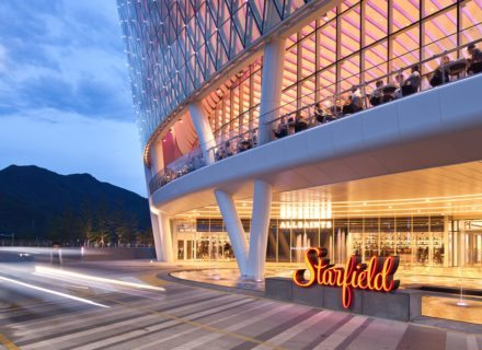 Starfield Hanam Mall Shopping Center Exterior Pedestrian Entry Sign Environmental Graphic Design Signage Featured