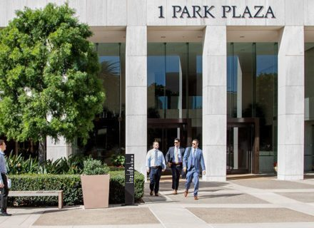 Irvine Company Properties ICOP Wayfinding Design Signage Pedestrian Wayfinding Directional Signs Exterior Building Identity Featured