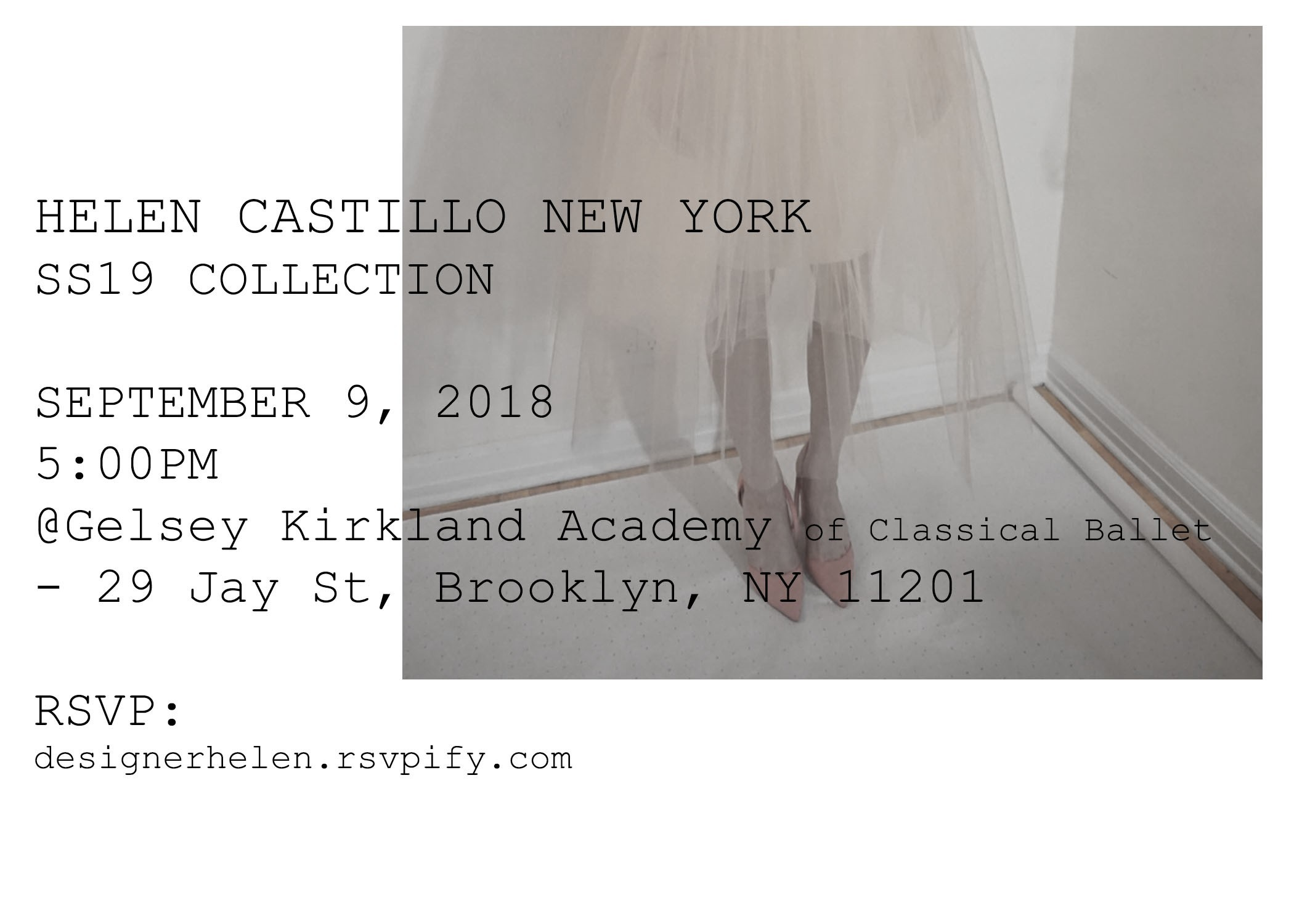Image result for NYFW INVITE 2019