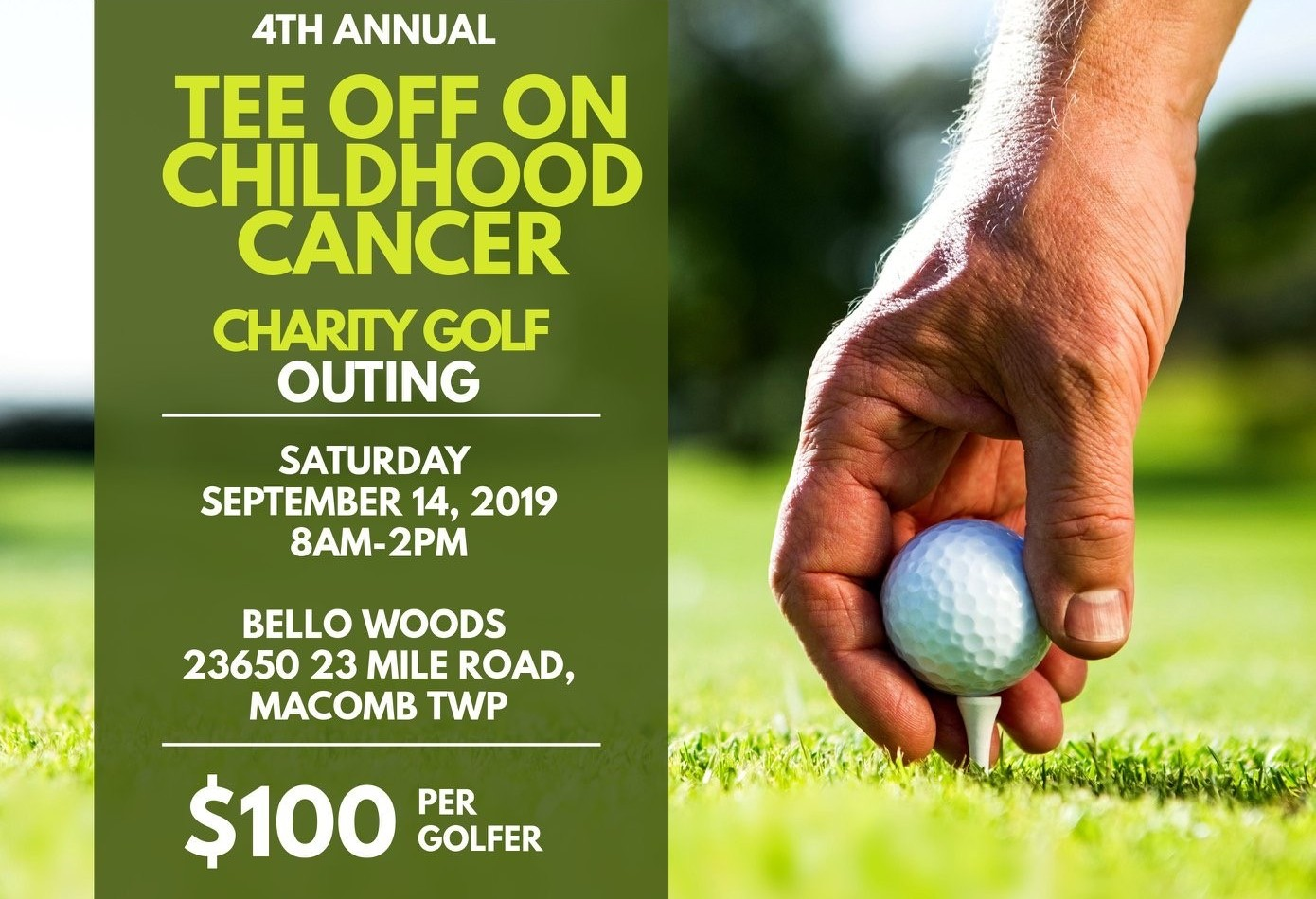 4th Annual Tee Off On Childhood Cancer Golf Outing & Dinner