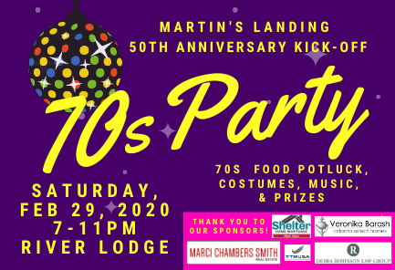 Martin's Landing 50th Anniversary Kick-Off - 70s Party