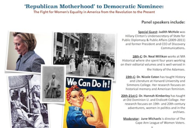 'Republican Motherhood to Democratic Nominee' 10/15, 2-5P