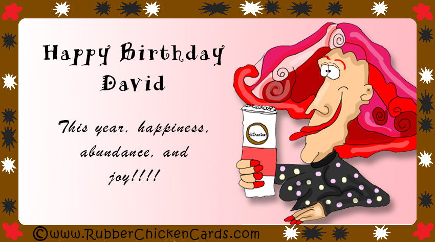 Birthday David A Free Social Media Card By Rubber Chicken Cards