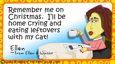 Funny Christmas Social Media Cards by Rubber Chicken Cards