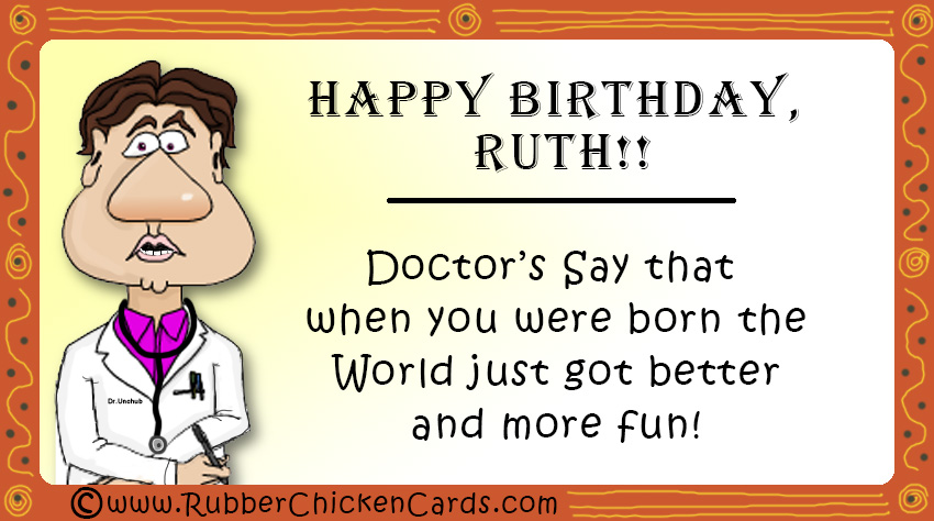 Birthday Ruth A Free Social Media Card By Rubber Chicken Cards