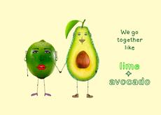 Lime and Avacado