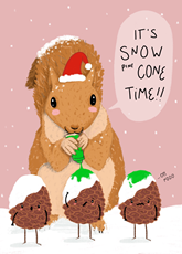 Snow Pinecone