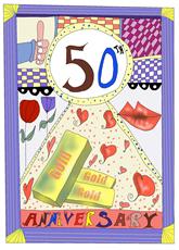 Gold 50th Anniversary