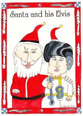 Santa and His Elvis