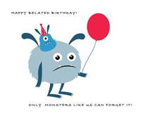 Monster Belated Birthday