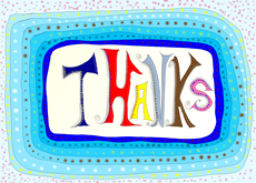 Thanks  in Blue
