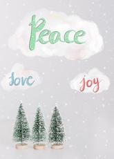 Peace, Joy, Love, Trees