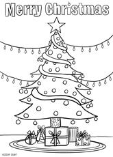 Color Me Christmas Tree