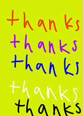 Thanks by Noah, age 6