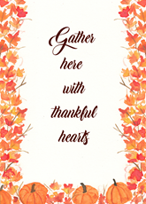 Gather with thanks