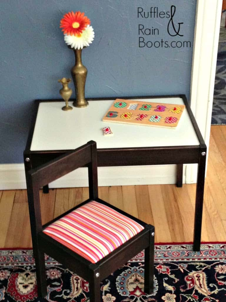 ... and the two step-by-step, DIY tutorials (yes, two!) that will convince  you for once and for all, that the Ikea Latt table is the best table for  kids!