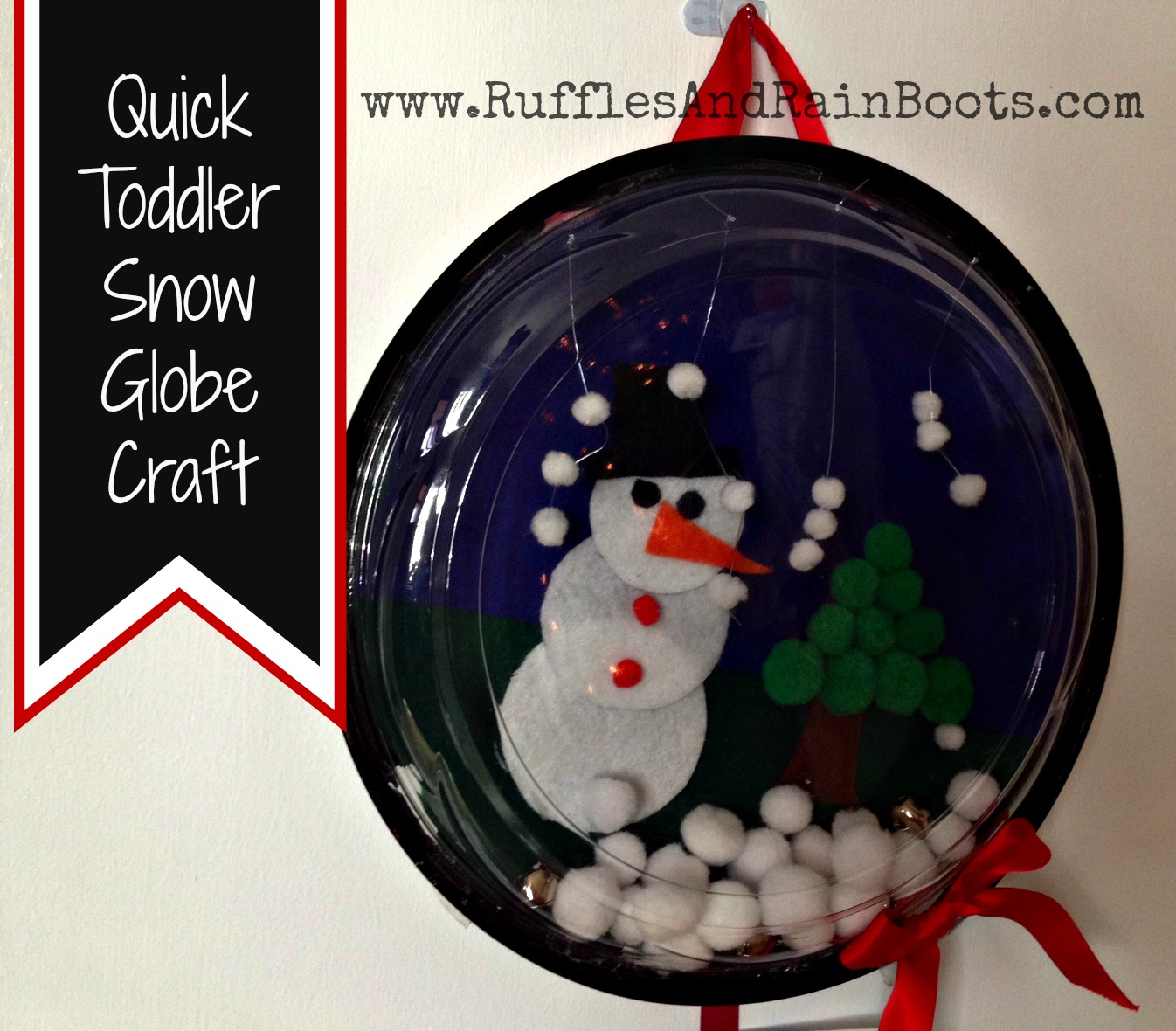 Make a Snow Globe Craft with the Kids from Recycled Materials!