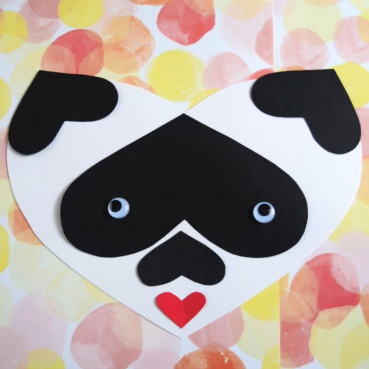 Panda Heart Craft - A Panda made with hearts makes an adorable Valentine's Day craft for kids