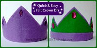 Adjustable, Reversible Felt Crown for Pretend Play