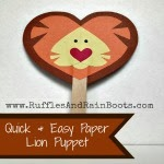 My Heart Is Like A Zoo: Lion Puppet