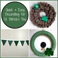 Some St. Patrick's Day Quick and Inexpensive Decorations