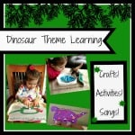 Ruffles And Rain Boots, dinosaur theme learning, dinosaur activities for toddlers, dinosaur crafts for toddlers