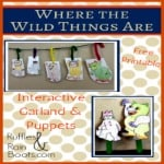 Ruffles And Rain Boots: where the wild things are, play garland, interactive play garland, free printable, printables