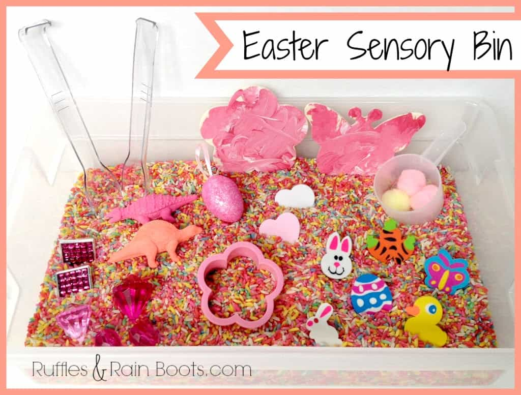 From Ruffles and Rain Boots: Easter crafts for adults and kids, Easter bunny softies, sensory bin, no sew Easter wall art, paper plate Easter basket
