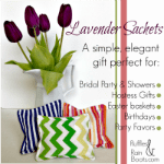 From Ruffles and Rain Boots: lavender sachet tutorial
