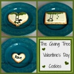 From Ruffles And Rain Boots: The Giving Tree cookies, The Giving Tree Valentine's Day sugar cookies