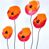 A Fun Craft for Toddlers: Painting Poppy Flowers with Balloons