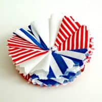 Red, White and Blue Series: Patriotic Flower Hair Clip