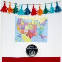 Countdown To Travel Display with Free State Trivia Cards