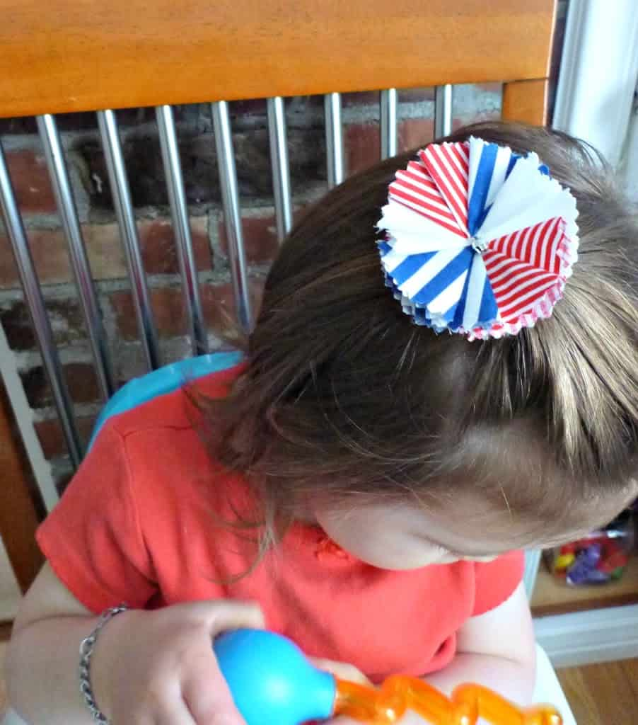 DIY fabric scrap buster project hair