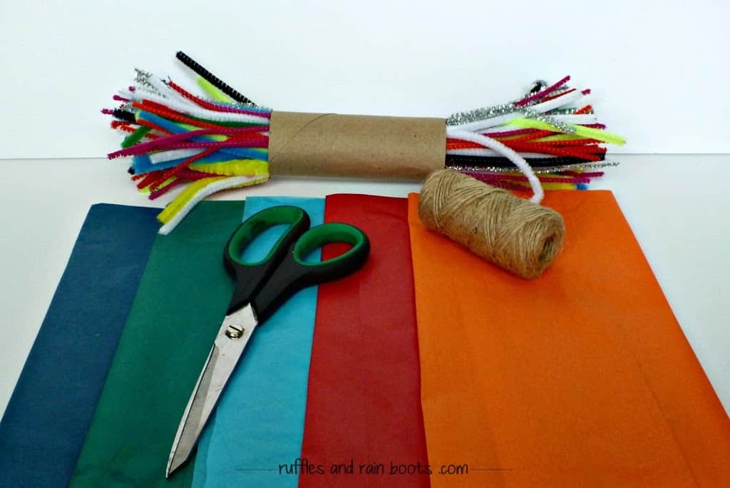 tissue-paper-craft-fringe-tassel-garland