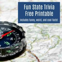 Fun State Trivia Road Trip Game for Kids – Free Printable!