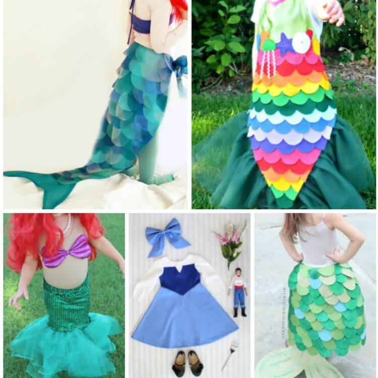 Adorable Make-At-Home Mermaid Costumes For Kids And Toddlers