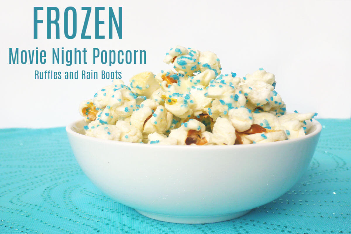 Make this FROZEN movie night popcorn treat