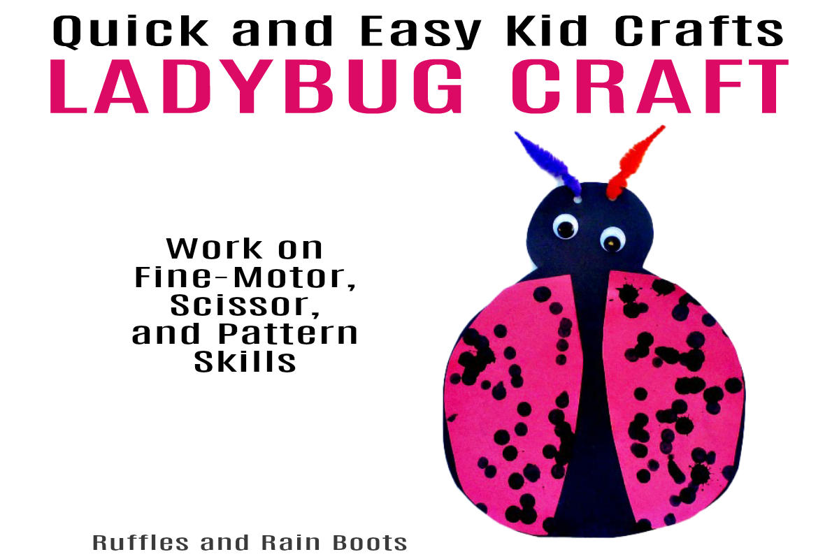Quick and Easy Ladybug Craft for Kids